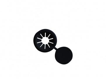 parasoldop zwart