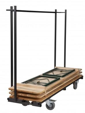 20x Biertafel in verschillende afmetingen + Transportkar (zonder banken)