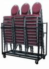 30x Maas Stapelstoelen + Transportkar