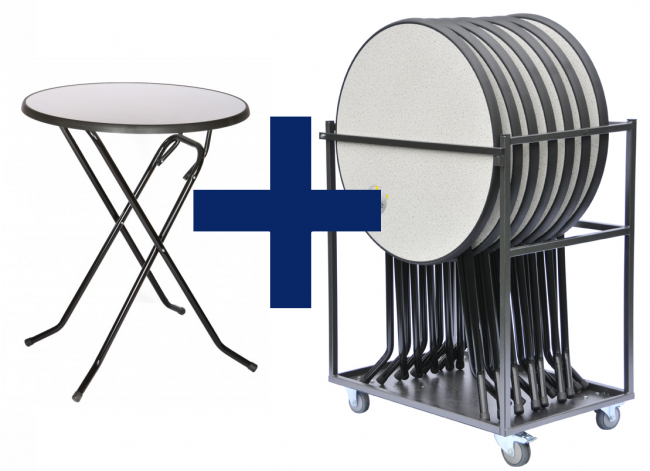 combinatiepakket colorado statafels en transportkar. Black Bedroom Furniture Sets. Home Design Ideas