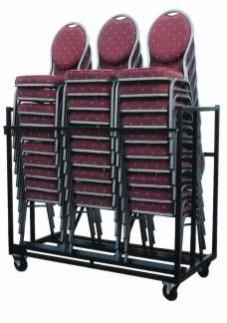 30x Maas Stapelstoel + Transportkar + 30x Stretchrok Wit of Zwart